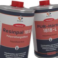 50 kg Polyurethan Gießharz Resinpal 1818 - 6 Minuten - Härter
